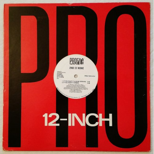 """2nd II None - If You Want It / More Than A Player, 12"""", Promo"""