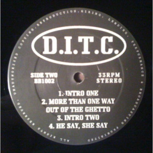 """D.I.T.C. - Unreleased EP, 12"""", EP"""
