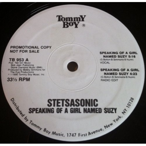 """Stetsasonic - Speaking Of A Girl Named Suzy / Anytime, Anyplace, 12"""", Promo"""