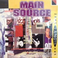 """Main Source - Just Hangin' Out / Live At The Barbeque, 12"""", Repress"""