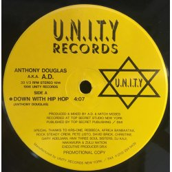 """A.D. - Down With Hip Hop, 12"""", Promo"""