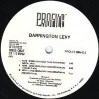 """Barrington Levy - Here I Come (Broader Than Broadway), 12"""", Promo"""