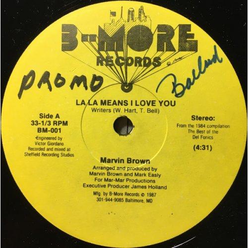 "Marvin Brown - La La Means I Love You, 12"""