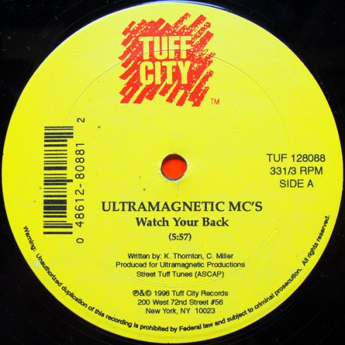 "Ultramagnetic MC's - Watch Your Back, 12"""