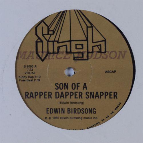 """Edwin Birdsong - Son Of A Rapper Dapper Snapper, 12"""""""