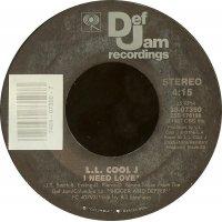 "L.L. Cool J - I Need Love / My Rhyme Ain't Done, 7"""