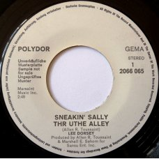 "Lee Dorsey - Sneakin' Sally Thr Uthe Alley, 7"", Promo"