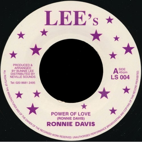 """Ronnie Davis / King Tubby's - Power Of Love / In Fine Style, 7"""", Reissue"""