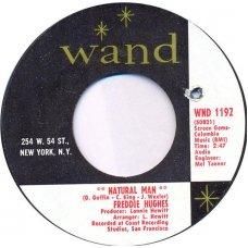 "Freddie Hughes - Natural Man / I Gotta Keep My Bluff In, 7"""