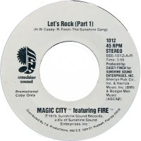 """Magic City Featuring Fire - Let's Rock, 7"""", Promo"""