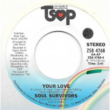 "Soul Survivors - Lover To Me, 7"""