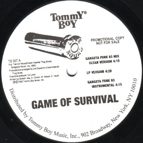 "Live Squad - Game Of Survival / Pump For A Livin', 12"", Promo"